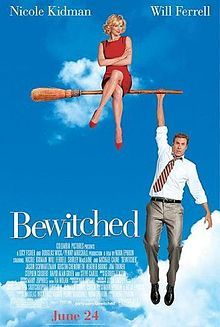 """BEWITCHED (2005): Thinking he can overshadow an unknown actress in the part, an egocentric actor unknowingly gets a witch cast in an upcoming television remake of the classic show """"Bewitched""""."""