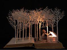 diorama altered book
