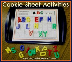 Cute idea for teaching letter recognition and alphabet!
