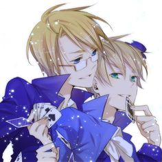 Hetalia USUK King and Queen of Spades, can't get enough cardverse!