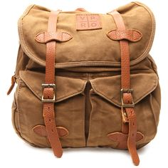 VIPARO Khaki Brown Canvas Army Vintage Wash Backpack Bag - Jerome (180 CAD) ❤ liked on Polyvore featuring bags, backpacks, backpack, brown, pocket backpack, army rucksack, zipper bag, backpacks bags and khaki backpack