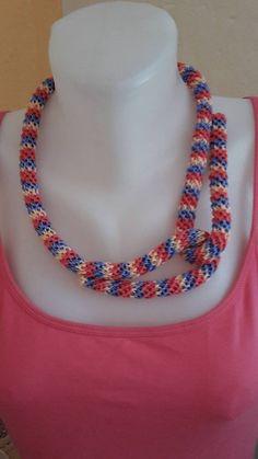 ElinorHandmade / Pásikatý had Ale, Beaded Necklace, Jewelry, Fashion, Beaded Collar, Moda, Jewlery, Pearl Necklace, Jewerly