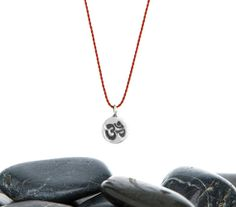 Mini OM Yoga Friendship Necklace in recycled sterling silver