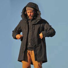 (1) Wasserabweisende Bio-Baumwolljacke - JECKYBENG German Clothing Brands, Sustainable Clothing, Cotton Jacket, Green Jacket, Timeless Fashion, Parka, Organic Cotton, Raincoat, Parkas