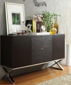 Look at this #zulilyfind! Espresso X-Cross Sideboard Buffet Server by HomeBelle #zulilyfinds