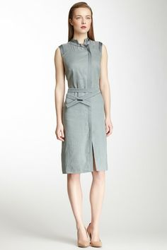 Giorgio Armani on HauteLook - Giorgio Armani Grosgrain Trim Mandarin Dress $719.00