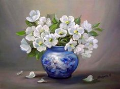 Pintura al Óleo Flores, Anca Bulgaru | Bodegones y Paisajes Cuadros al Óleo