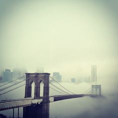 Manhattan Lost in Fog   (view from the Carrot Creative office in DUMBO, Brooklyn, NY)
