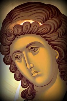 Religious Images, Religious Icons, Religious Art, Byzantine Icons, Byzantine Art, Paint Icon, Archangel Gabriel, Religious Paintings, Orthodox Icons