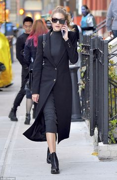 Spellbinding! Earlier that day Gigi rocked a super bewitching look as she stepped out on Halloween in New York City