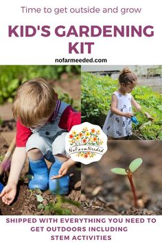 Kid's Gardening Kit will bring your family together by planting easy-to-grow veggies and flowers. What a fun, healthy way to learn where plants begin. Kids Gardening Kit, Organic Gardening Tips, Growing Veggies, Growing Plants, Stem Activities, Activities For Kids, Get Outdoors, Get Outside, Vegetable Garden