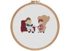 Carl & Ellie Fredricksen Up. via Etsy. Cross Stitching, Cross Stitch Embroidery, Cross Stitch Patterns, Up Carl Y Ellie, Up Pixar, Snitches Get Stitches, Crochet Cross, Needlework, Embroidery