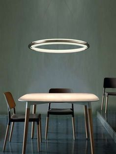 The 'Nimba' LED Suspension Light Looks Like a Glowing Halo trendhunter.com