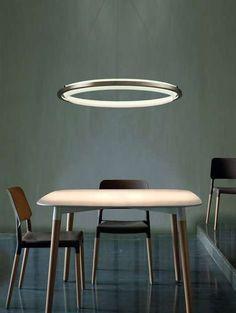 The 'Nimba' LED Suspension Light Looks Like a Glowing Halo trendhunter.com