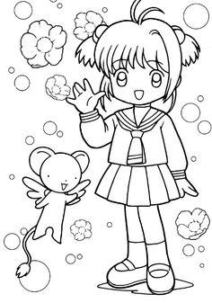 Resultado de imagen para colorear anime chibis  pintar anime