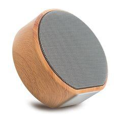 Premium Audio In & Outdoor Quality Sound Music Player Wood Grain Wireless Bluetooth  Pairing