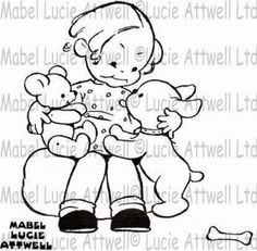Mabel Lucie Attwell Walkies Stamp