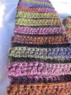 Circular Ridged Hat + Ridged Scarf pattern by Cheryl Wilson