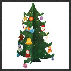 Canon Papercraft - Basic Christmas Miniature Tree Free Template Download