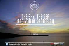 The sky, the sea and you in Santorini