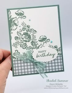 NEW Stampin' Up! In Colors with Shaded Summer stamp set card bys Dawn Olchefske #dostamping #HowdSheDOthat #DOswts363 #dostamperstars-ph 21 Cards, Note Cards, Stampin Up Catalog, Stamping Up Cards, Color Card, Flower Cards, Birthday Cards, Birthday Ideas, Greeting Cards Handmade
