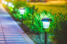 How to Enhance Your Home's Exterior With Landscape Lighting | Illuminating your exterior with landscape lighting is a great way to make your home stand out after the sun goes down. #HomeMattersBlog