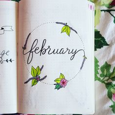 """""""This is my february cover page """" Cover page idea for bullet journal"""