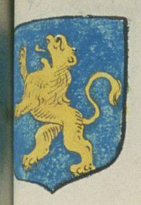 Le Prieuré de S.t Quentin en Mauge. Porte : d'azur, à un lion d'or | N° 99 > Angers