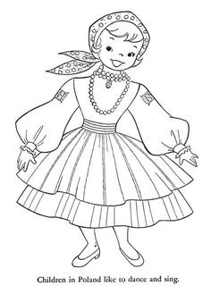 Kids coloring pages on poland Flag Coloring Pages, Coloring Pages For Kids, Free Coloring, Coloring Books, Kids Coloring, Coloring Sheets, Kids Around The World, Thinking Day, Hand Embroidery Patterns