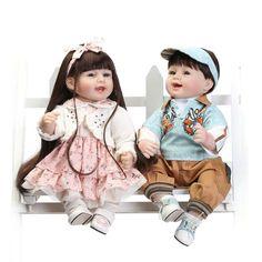 Ambitious 20 Inch 50 Cm Silicone Baby Reborn Dolls Fashion Set Blue Eyes Of The Holiday Gift Boy Girl Baby Children Dolls
