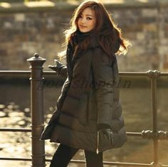 New Womens Duck Down Jacket Parka Hoody Loose Winter WARM Fashion Coat Black ## | eBay