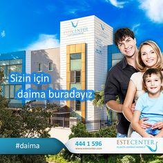 Sizin için #daima buradayız. www.estecenter.com - 444 1 596 #estecenter #sağlık #doğal #estetik #güzellik #istanbul