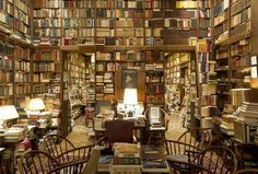 A home library to be envious of ~~~ This is the personal library of Professor Richard A. Macksey of Johns Hopkins University. It contains over books and manuscripts, as well as other art. Beautiful Library, Dream Library, Library Books, Cozy Library, Future Library, College Library, Library Design, Library Ideas, Grand Library