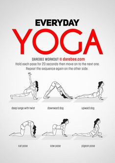 Yoga training to lose weight and belly fat - - Everyday Yoga Workout by DAREBEE Practice Yoga to Lose Weight - Yoga Fitness. Introducing a breakthrough program that melts away flab and reshapes your body in as little as one hour a week! Post Workout Stretches, Morning Yoga Workouts, Yoga Exercises, Morning Stretches, Fitness Exercises, Posture Stretches, Morning Workout Routine, Song Workouts, Stretches For Flexibility