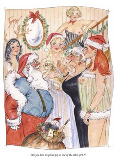"""Santa says """"Ho, Ho, Ho!"""" And if he's not interested in spreading Joy, the jolly old elf may try his hand at spanking the house whipping girl."""
