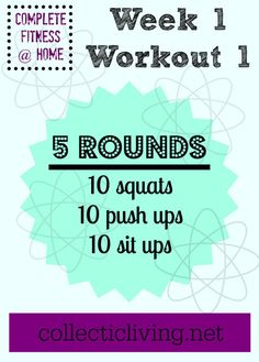 Quick easy at-home workout!