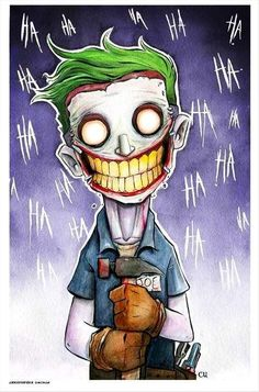 Joker by Christopher Uminga. This awesome piece may be purchased at: www.metropoliscomicart.com