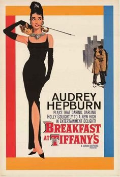 A fantastic Breakfast at Tiffany's movie poster with the lovely Audrey Hepburn in her classic role as Holly Golightly! Fully licensed. Ships fast. 24x36 inches. We have a fabulous selection of Audrey