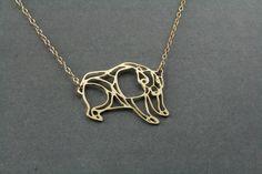 bear necklace, grizzly bear, bear jewelry