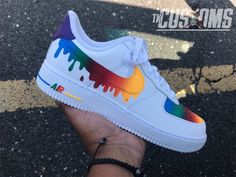 "Custom Nike Air Force 1 Drip Available in Grade School sizes and Men sizes Shoes are guaranteed authentic White Nike Air Force Custom ""Drip"" Air Force 1 Low . Nike Air Force, Nike Shoes Air Force, Sneakers Mode, Custom Sneakers, Sneakers Fashion, Nike Custom Shoes, Fashion Shoes, Custom Converse, Custom Jordans"