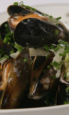 Moules Mariniere – So easy to prepare and makes a real wow statement at the table. Kids love these and don't worry all the alcohol burns off in the cooking! - www.fishisthedish.co.uk/recipes/moules-mariniere