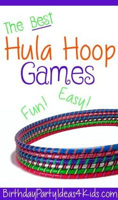 Hula Hoop Games! Fun games that all use a hula hoop for kids of all ages!  Easy…