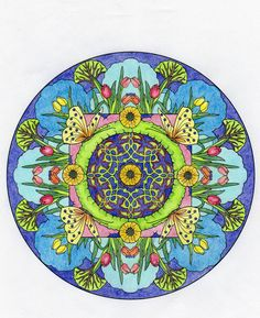 Marion Kelsey 18 Division From Creative Haven Nature Mandalas Coloring Book