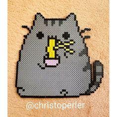 Pusheen cat perler beads by  christoperler