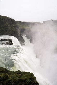 Gullfoss waterfall, one of the amazing places to see on a trip through Iceland in the summer