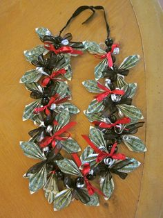 Graduation Money Lei by PCbyMarilyn on Etsy Homemade Gifts, Diy Gifts, Coach Appreciation Gifts, Graduation Leis, Money Lei, School Colors, Wedding Humor, Gifts For Friends, Projects To Try