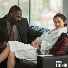 Love these two ---> Idris Elba (Luther) and Ruth Wilson (Alice)