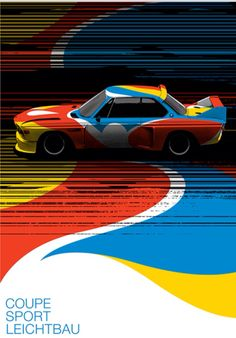 BMW 3.0CSL | Calder | art car | illustration | poster | colorful