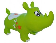 Bouncy Kent The Rhino Inflatable Horse Hopper (Space Hopper, Jumping Horse, Ride-On Bouncy Animal), 2015 Amazon Top Rated Pogo Sticks & Hoppers #Toy
