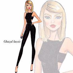 Illustration Mode, Fashion Illustration Sketches, Fashion Sketchbook, Fashion Sketches, Moda Fashion, Fashion Models, Girl Fashion, Womens Fashion, Fashion Drawing Dresses